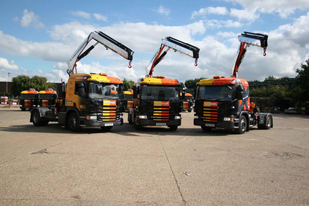 TRAD Scaffolding Scania Trucks