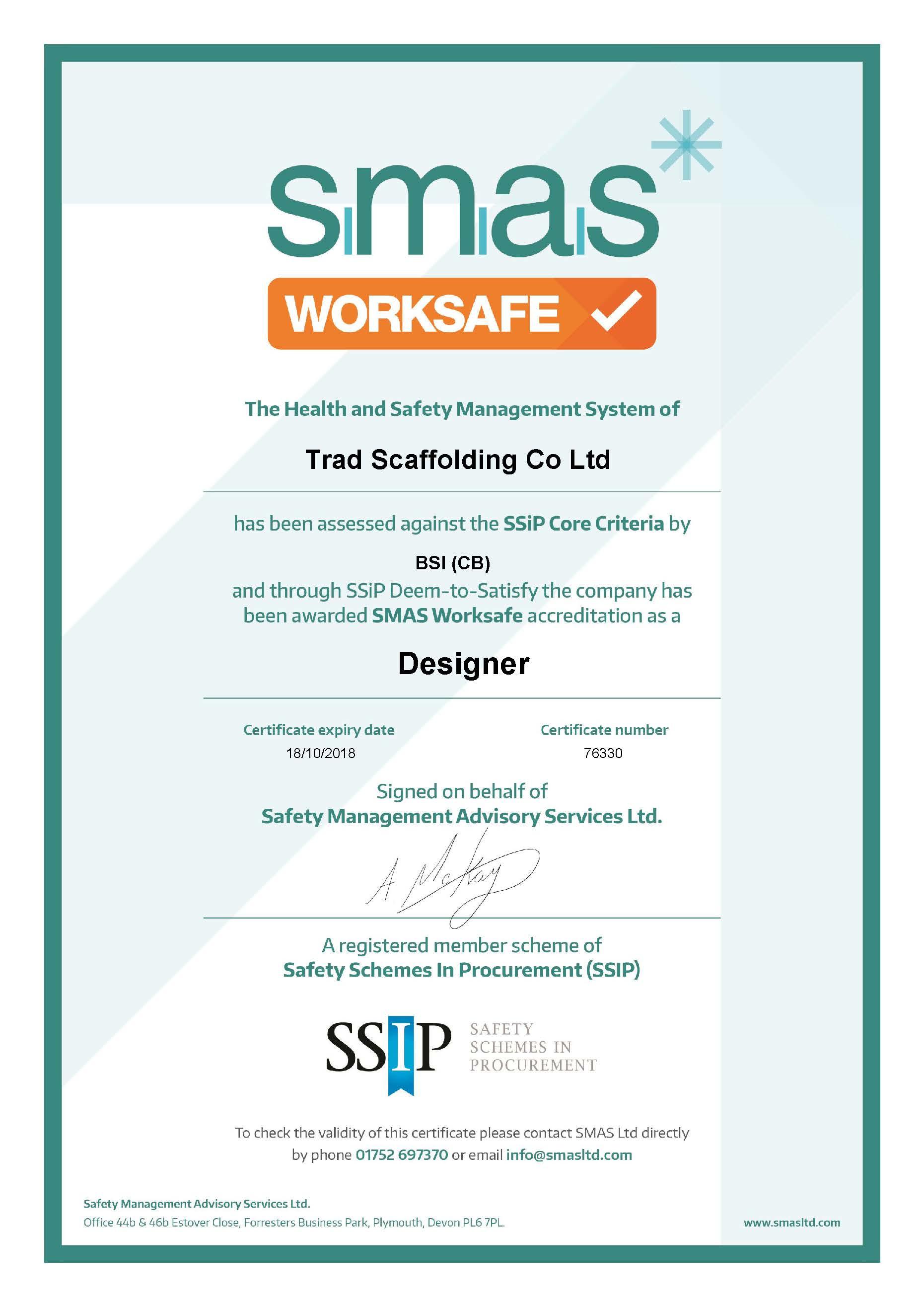SMAS Worksafe Designer