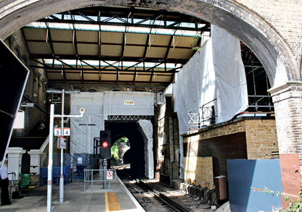TRAD Scaffolding Crystal Palace Station London
