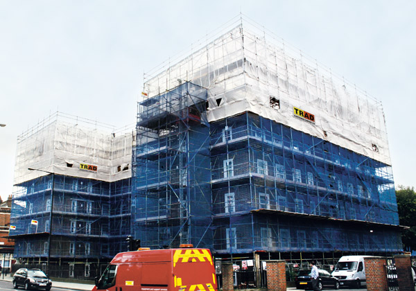 TRAD Scaffolding Nisbet House London