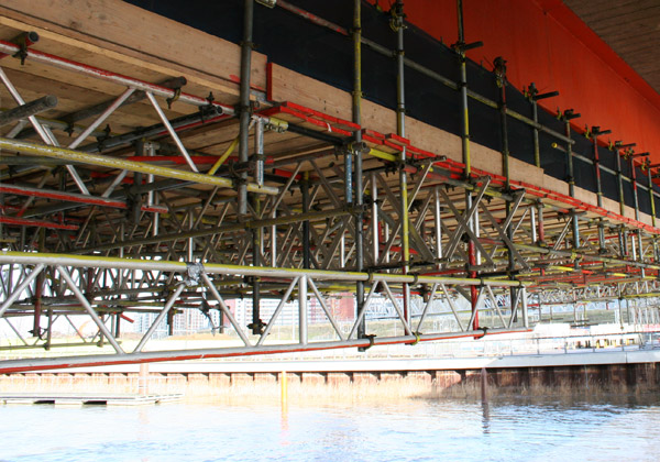 TRAD Scaffolding Olympic Park Bridge London