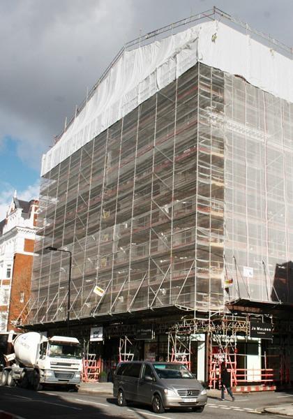 TRAD Scaffolding Sloane Street London