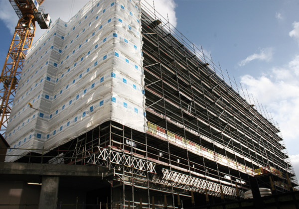 TRAD Scaffolding Unite Student Housing London