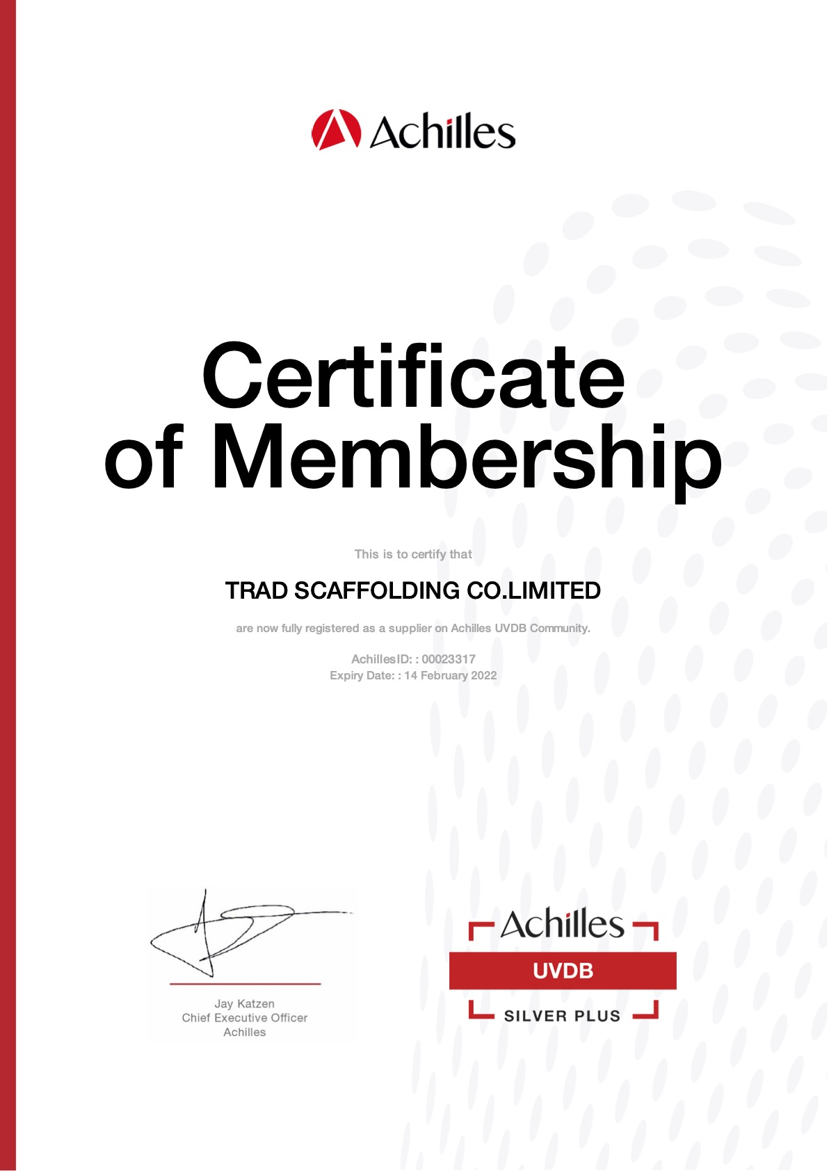 Achilles utilities vendor database (uvd)